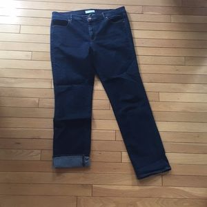 Loft stretch dark denim jeans